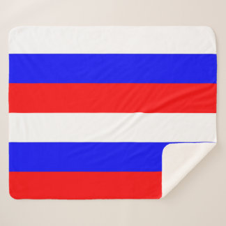 Patriotic Sherpa Blanket with Russia flag