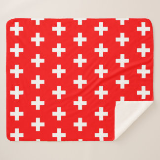Patriotic Sherpa Blanket with Switzerland flag