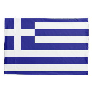 Patriotic Single Pillowcase flag of Greece