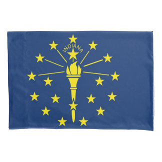 Patriotic Single Pillowcase flag of Indiana, USA
