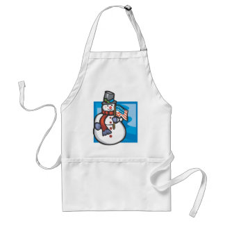 Patriotic Snowman Apron