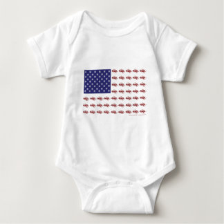 Patriotic Snowmobiling Baby Bodysuit