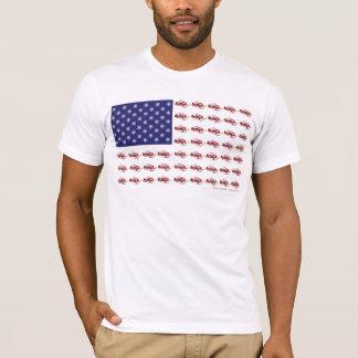 Patriotic Snowmobiling T-Shirt