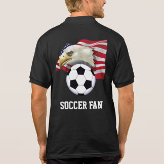 Patriotic Soccer Fan Polo Shirt