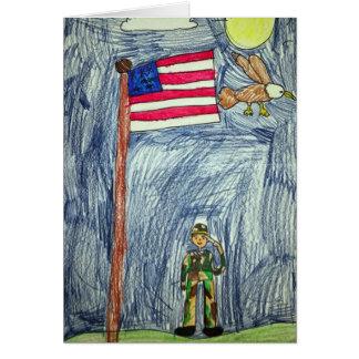 Patriotic Soldier Card - Art by Ayla