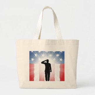 Patriotic soldier salute bag