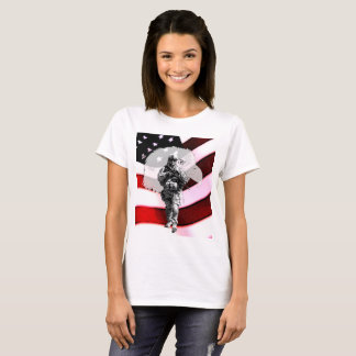 Patriotic Soldier with Eagle and U.S. Flag Shirt
