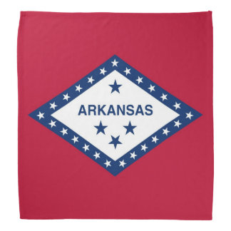 Patriotic, special bandana with Flag of Arkansas