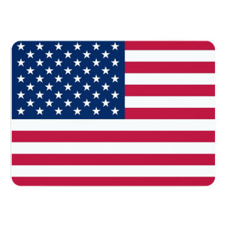 Patriotic, special invitations with Flag of USA