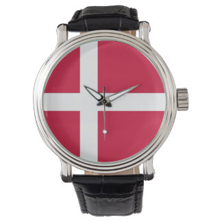 Patriotic, special watch with Flag of Denmark