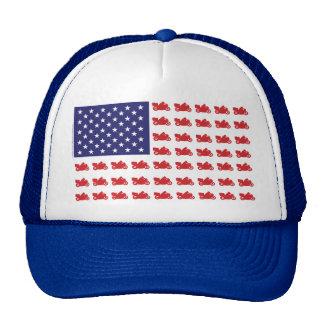 Patriotic Sport Cruiser Motorcycle Trucker Hats
