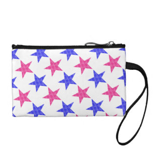 Patriotic Stamped Stars Coin Purse