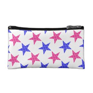 Patriotic Stamped Stars Cosmetic Bags