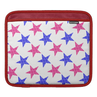 Patriotic Stamped Stars iPad Sleeves