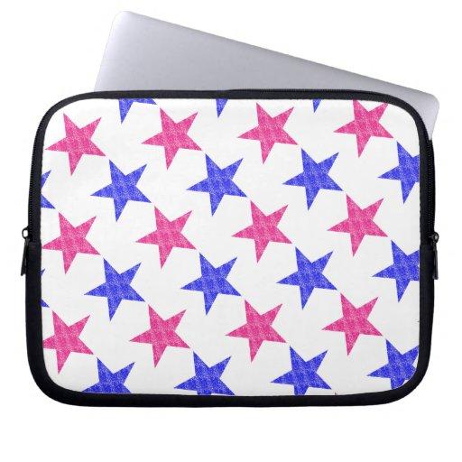 Patriotic Stamped Stars Laptop Sleeves