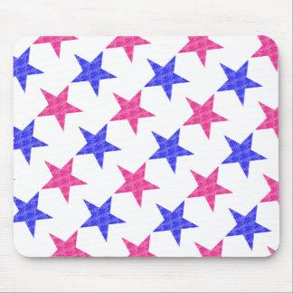 Patriotic Stamped Stars Mouse Pad