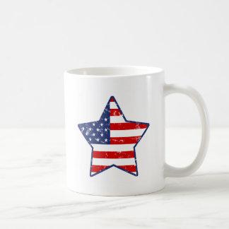 Patriotic Star Classic White Coffee Mug