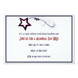 Patriotic Star Light 9 Cm X 13 Cm Invitation Card