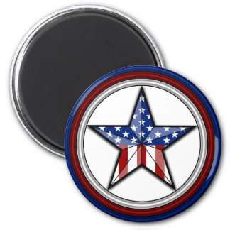 Patriotic Star Magnet