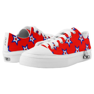 Patriotic Star Pattern Low Top Canvas Shoes