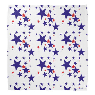 Patriotic Star Pattern Red White and Blue Bandanna