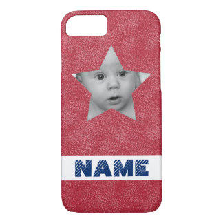 Patriotic Star Photo Frame iPhone 7 Case