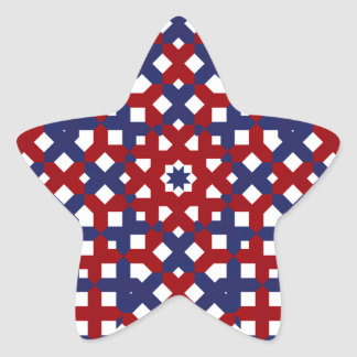 Patriotic Star Stickers Red White and Blue
