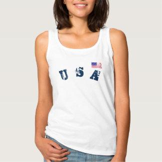 patriotic star stripes usa flag women's summer top
