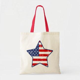 Patriotic Star Budget Tote Bag