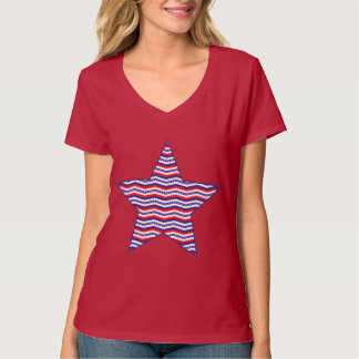 Patriotic Star Women's V-Neck T-Shirt