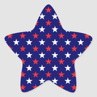 Patriotic Stars 1 Star Sticker