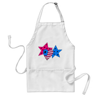 Patriotic Stars and Heart Apron