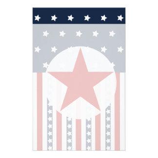 Patriotic Stars and Stripes American Flag Design Customised Stationery