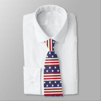 Patriotic Stars and Stripes American Flag USA Tie