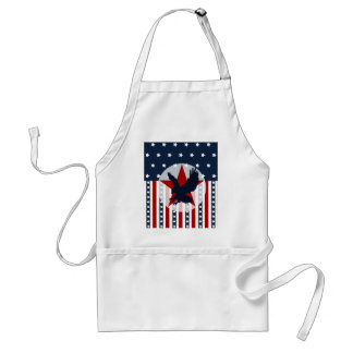 Patriotic Stars and Stripes Bald Eagle American Apron