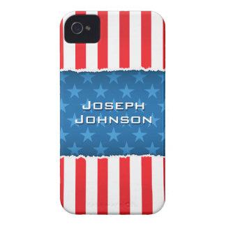Patriotic stars and stripes BlackBerry bold case