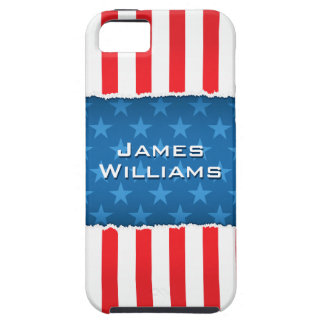 Patriotic stars and stripes flag iPhone 5 case