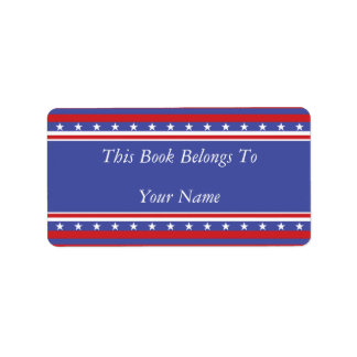 Patriotic Stars and Stripes Label