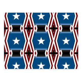 Patriotic Stars And Stripes Postcard