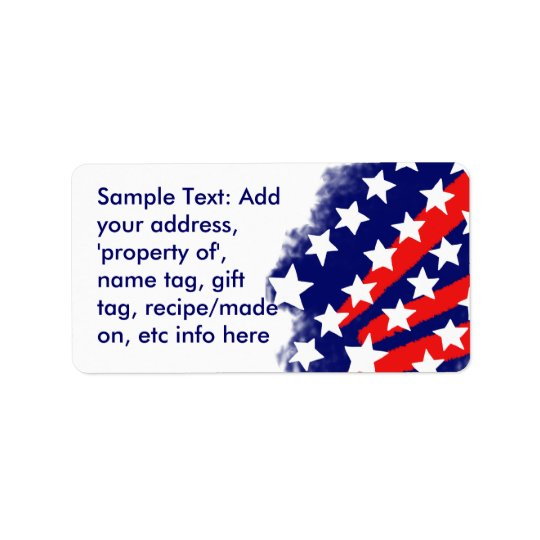 Patriotic Stars and Stripes Stylised Labels