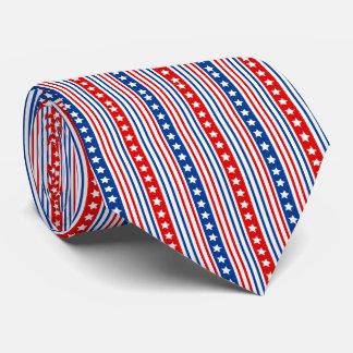 Patriotic Stars and Stripes Tie