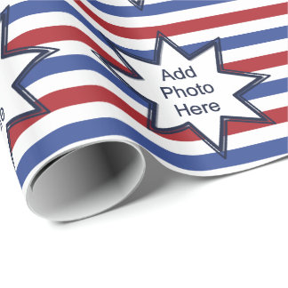 Patriotic Stars and Stripes Wrapping Paper