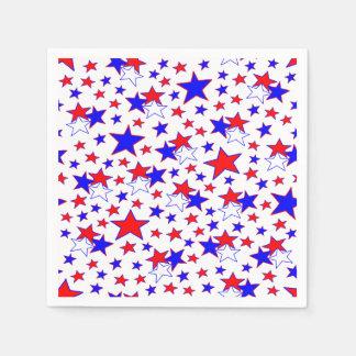 Patriotic Stars Disposable Napkins