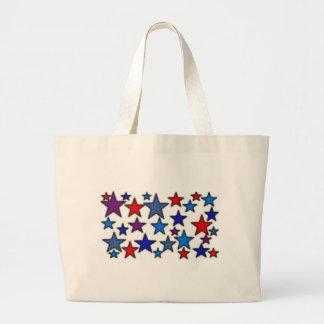 patriotic stars effects.jpg jumbo tote bag