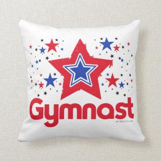 Patriotic Stars Gymnastics by Golly Girls Cushion