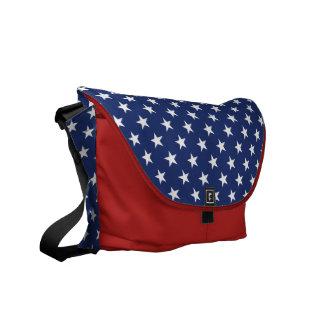 Patriotic Stars Messenger Bag