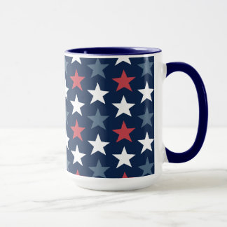 Patriotic Stars Red White & Blue Coffee Mug