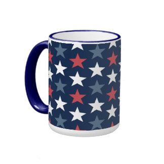 Patriotic Stars Red White & Blue Coffee Mug