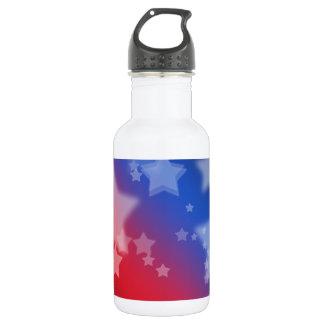 Patriotic Stars Red White Blue 532 Ml Water Bottle