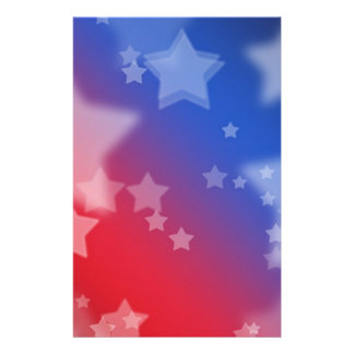 Patriotic Stars Customized Stationery